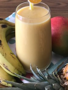 Smoothie mangue banane